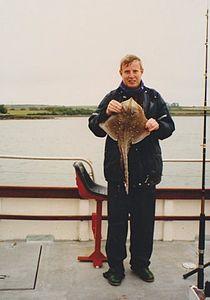 Peter van der Sluijs shows here are caught thornback ray in Ireland.jpg