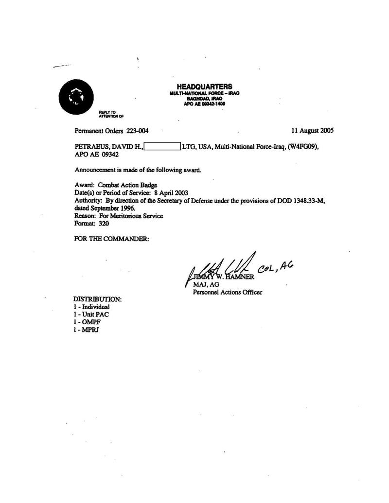 Petraeus Combat Action Badge Orders.pdf