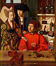 Petrus Christus, Sant'Eligio nella bottega di un orefice, New York, Metropolitan Museum of Art