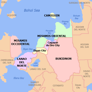 Northern Mindanao - Map of Region X
