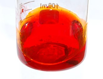 Phenolphthalein - Image: Phenolphthalein in conc sulfuric acid