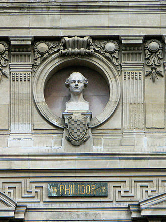 François-André Danican Philidor - Philidor's bust on the façade of the Opera Garnier in Paris