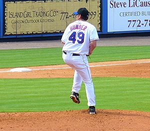 Philip Humber - Humber pitching for the New York Mets in 2007 spring training