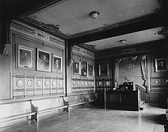 College literary societies - Image: Philodemic Society of Georgetown University, debating room, circa 1910