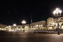 Piazza Vittorio Veneto con la Mole Antonelliana sullo sfondo