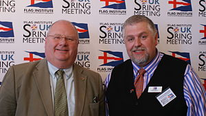 Flag Institute - Eric Pickles, Secretary of State for Communities and Local Government, with Charles Ashburner, chief executive and trustee of the Flag Institute