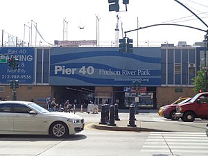 Pier 40 at Hudson River Park - Pier 40's entrance