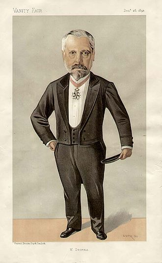 Albert Decrais - Cartoon of Decrais from Vanity Fair, 28 December 1893