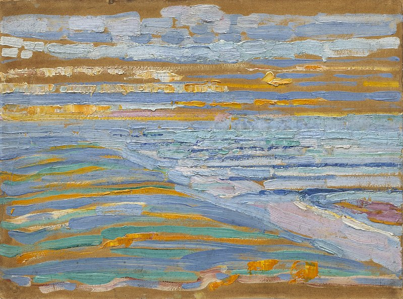 File:Piet Mondrian, 1909, View from the Dunes with Beach and Piers, Domburg, MoMA.jpg