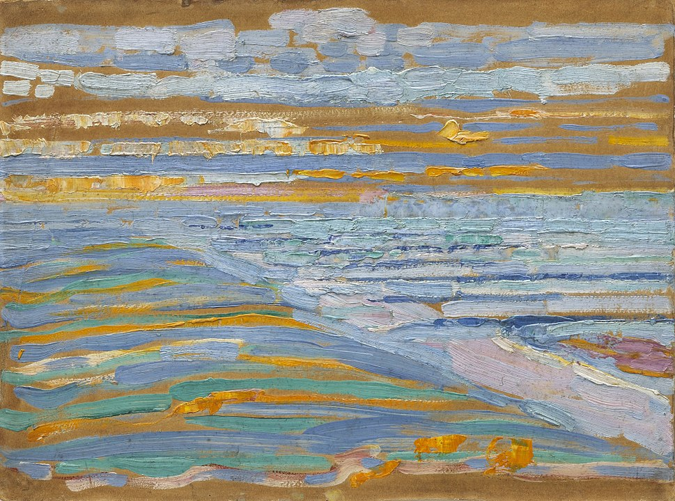 Piet Mondrian, 1909, View from the Dunes with Beach and Piers, Domburg, MoMA