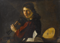 Pietro Paolini - A young man holding bagpipes.png