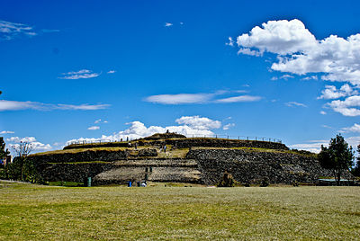 Pirámide de Cuicuilco.
