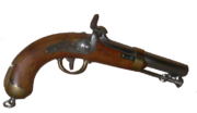 Ordnance pistol of the French Navy, 19th century, using a Percussion cap mechanism