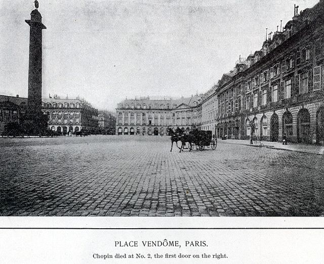 Place Vendome, where Chopin died