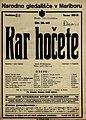Plakat za predstavo Kar hočete v Narodnem gledališču v Mariboru 28. decembra 1927.jpg