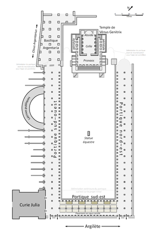 Forum of Caesar - Plan of the Forum of Caesar
