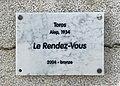 Plaque de la sculpture Le Rendez-vous (Toros) à Valence.jpg