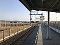 Platform of Nishitetsu-Nakashima Station 1.jpg