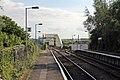 Platforms and bridge, Hawarden Bridge railway station (geograph 4032514).jpg
