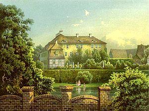 Plattenburg (castle) - Plattenburg around 1860, Alexander Duncker collection