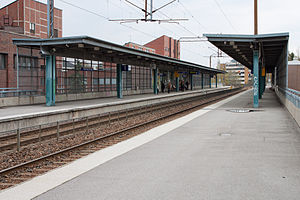 Pohjois-Haaga Train Station Northbound.JPG
