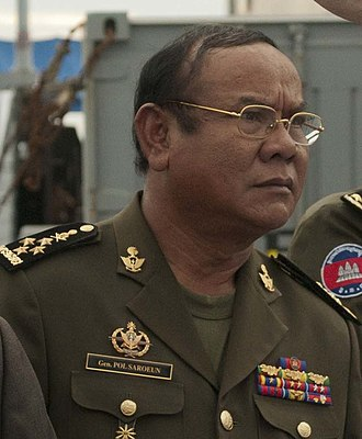 Commander-in-chief of the Royal Cambodian Armed Forces - Image: Pol Saroeun (cropped)