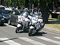 Police Nationale motos manifestation taxis 2011.JPG