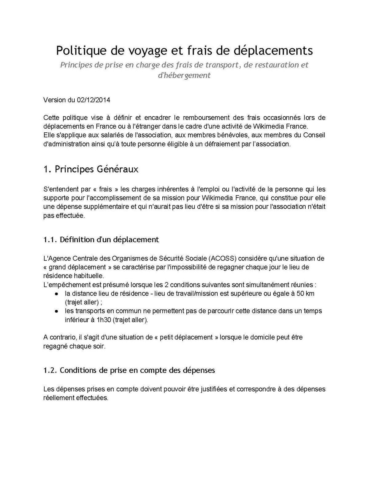 Wikimédia France Documents Politique De Frais De