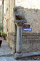 Pomarance, torre dell'orologio e palazzo pretorio, marzocco del 1474.JPG