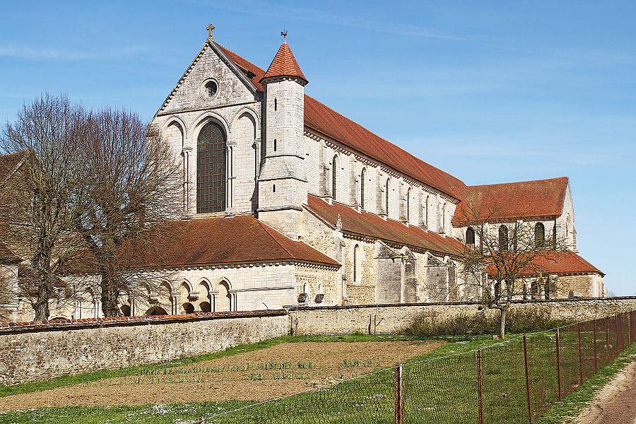 Potager et abbatiale de Pontigny