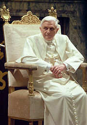Pope Benedict XVI is the leader of the Roman Catholic Church, a position that is reserved for men only.