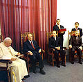 Pope John Paul II and President Alija Izetbegović in Bosnia and Herzegovina, 1997.jpg