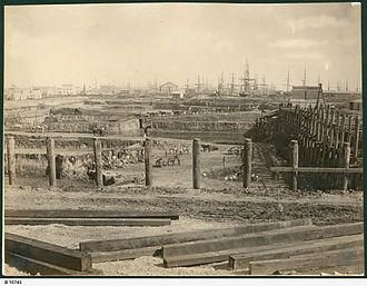 Port Adelaide - Excavation of the Port Dock at Port Adelaide, 1879