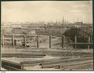 Port Adelaide - Excavation of the Port Dock at Port Adelaide, 1879