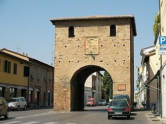 Battle of Faventia (82 BC) - Roman era gate at Faventia.