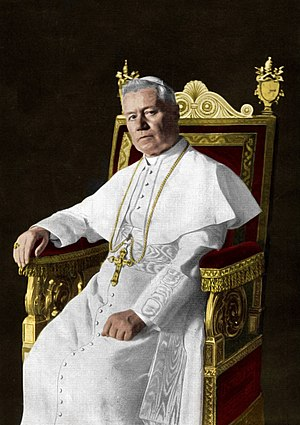 Gentiloni pact - Portrait of Pope Pius X
