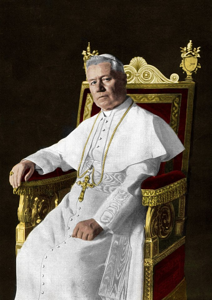 Portrait of Pope St. Pius X (Colored)
