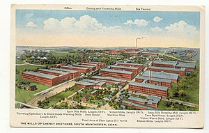 Manchester, Connecticut - Cheney Brothers Mills, South Manchester, 1920