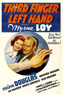 <i>Third Finger, Left Hand</i> (film) 1940 film by Robert Zigler Leonard