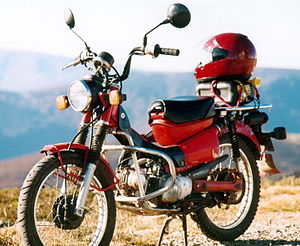 Honda CT110 - Wikipedia on honda gx390 electric start wiring diagram, honda motorcycle 125cc wiring-diagram, honda gx340 starter wiring diagram, honda rebel handlebar diagram, honda ct70 lifan 125 wiring to,