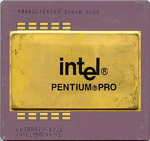 Pentium Pro - 200 MHz Pentium Pro with a 512 KiB L2 cache in PGA package