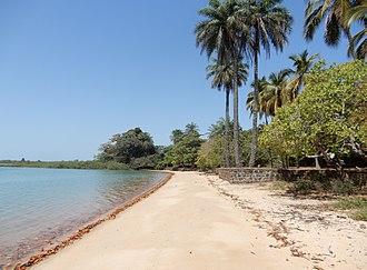 Geography of Guinea-Bissau - Ofir beach, Bolama, Bijagós Islands, Guinea-Bissau