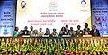 Prakash Javadekar with the recipients of the KVS National Incentive Awards 2016 and the Innovation and Experimentation Awards 2016, at the Kendriya Vidyalaya Sangathan (KVS) foundation day function, in New Delhi (3).jpg
