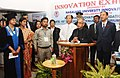 Pranab Mukherjee addressing after inaugurating the Grassroots Innovation Exhibition, during the Third Convocation of Nagaland University, at Lumami, Nagaland. The Governor of Nagaland.jpg