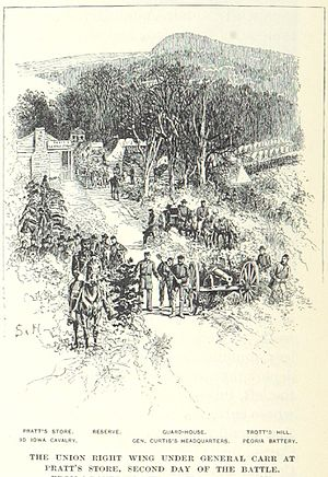 Battle of Pea Ridge - Curtis's headquarters at Pratt's Store