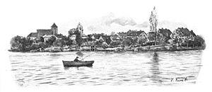 Kirchsee (Schleswig-Holstein) - Kirchsee around 1895, Preetz in the background