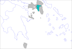 Location of municipalities within Athens Prefecture