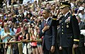 President Barack Obama and Major General Michael S. Linnington render their respects.jpg