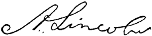 English: Signature of President of the United ...