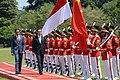 Prime Minister of China, Li Keqiang, reviews the honorary guard at the Bogor Presidential Palace.jpg